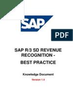 Revenue Recognition SAP