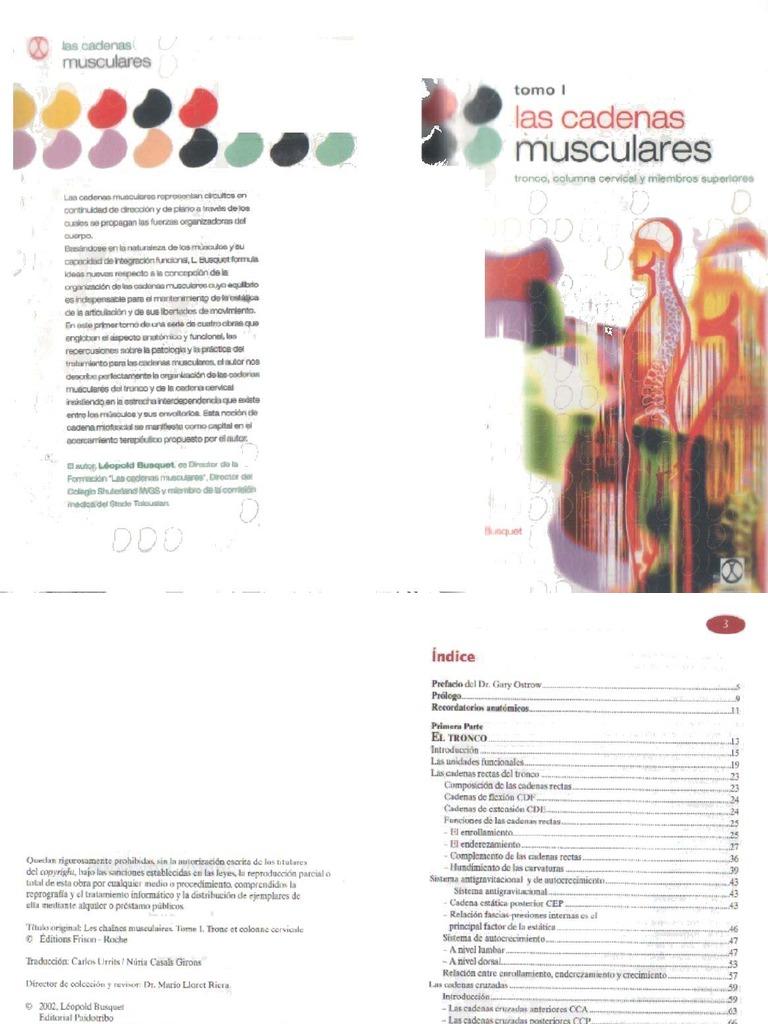 L. Busquet - Las Cadenas Musculares Tomo I - Tronco