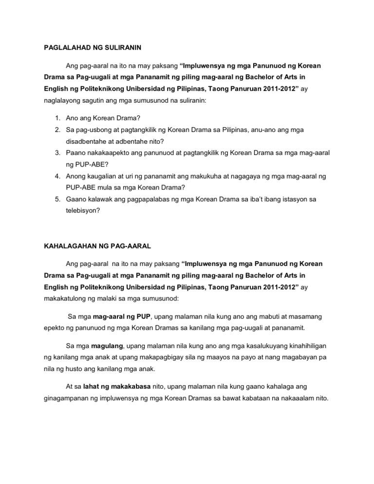 Kahalagahan Sa Pag Aaral Sa Thesis - Writingz.web.fc2.com