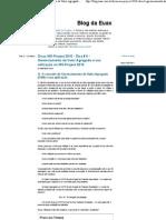 Dicas MS-Project 2010 - Dica # 6 - Gerenciamento de Valor Agregado e sua utilização no MS-Project 2010 - Blog da Euax