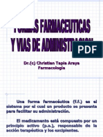 Formas Farmaceúticas y vías de Administración
