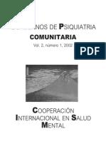 Cuadernos de Psiquiatría Comunitaria vol 2.1