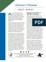 Alzheimer's Fact Sheet