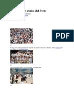 Composición étnica del Perú