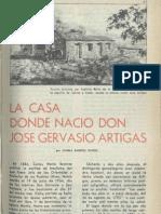 La casa donde nació Jose Artigas - BSE