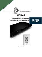 HDR44 Manual