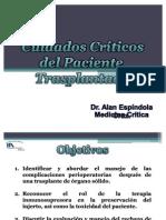 Cuidados Críticos del Paciente Transplantado Receptor de Órgano Sólido1