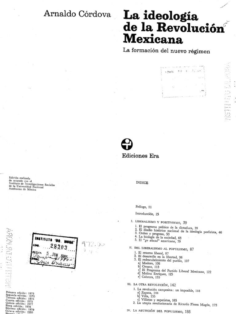 15 y 16. La ideología de la revolución. Córdova eaac3e691f8