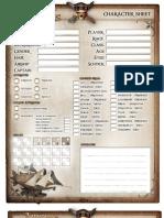 Airship Pirates Character Sheet