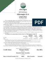 Adecoagro Final Prospectus 100211