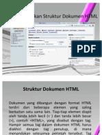 Menjelaskan Struktur Dokumen HTML