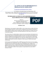 Neurological Effects of Radio Frequency Electromagnetic Radiation