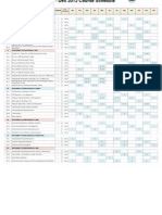 course schedule 2012