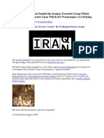 """Smoking Gun Documents On Iran """"Found"""" By US-Backed Terror Group."""