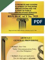 (2)Republic Act No 7925