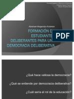 Exposición, democracia deliberativa