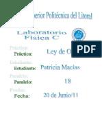 Práctica de lab. 4LEY DE OHM