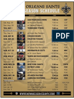 Saints Schedule 2011