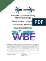 B2MML BatchML V0500 Code Generation