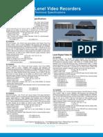 HW LNVR-LDVR Technical Specifications 1209