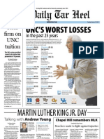 The Daily Tar Heel for January 17, 2012