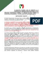 Acuerdo blindaje elecciones 2012