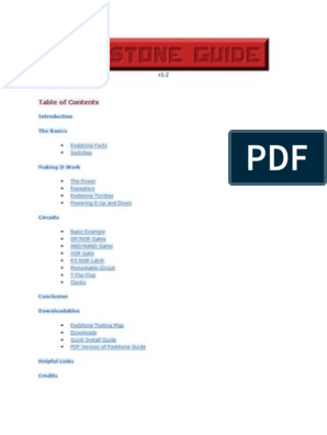 Redstone Pdf Word Version 12 Switch Electronic Engineering