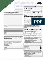 Cerere Sofer Cartela Tahografica Si Certificat de Pregatire Profesionala