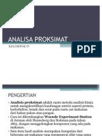 ANALISA PROKSIMAT