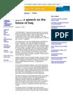 Bush Speech