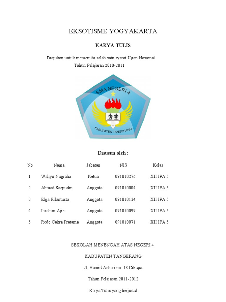 Best Judul Karya Tulis Ilmiah Jurusan Ipa Image Collection