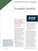 Geographic Branding