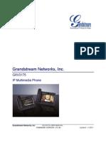 GrandStream GXV-3175 - User Manual English