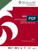 White Paper Dodd Frank Compliance