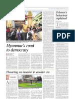 Myanmar's Road to Democracy