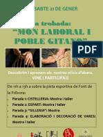 cartell món laboral Poble Gitano