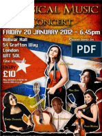 Classical Music Concert -Bolivar Hall- Cuban Fundraiser