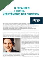 Jung und Erfahren. Das Neue Luxusverständnis der Chinesen - Jahrbuch Marketing 2012