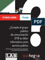 Tratamiento de la territorialidad y protagonismo de los diferentes sujetos políticos en EITB