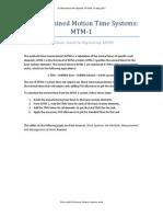 MTM 1 System