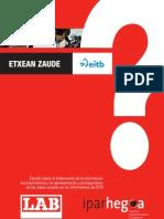 Estudio sobre el tratamiento de la información socioeconómica y la representación y protagonismo de las clases sociales en los informativos de EITB