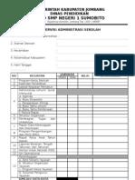 Format Supervisi administrasi