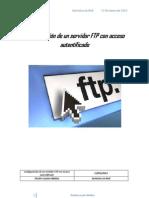 Configuracion de Un Servidor FTP Con Acceso Autentificado