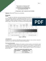 Lab 1 pH Conductivity Turbidity