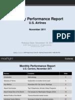 MasFlight MPR Nov 2011 Report