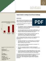 Saudi Arabia's coming oil and fiscal challenge - Jadwa