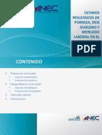 Rueda de prensa pobreza, desigualdad y mercado laboral en el Ecuador