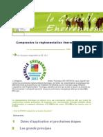 Comprendre la réglementation thermique 2012