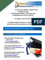 Curso online gratuito de RAIS - Perguntas e Respostas