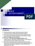 Bab 8 Sistem Kabinet
